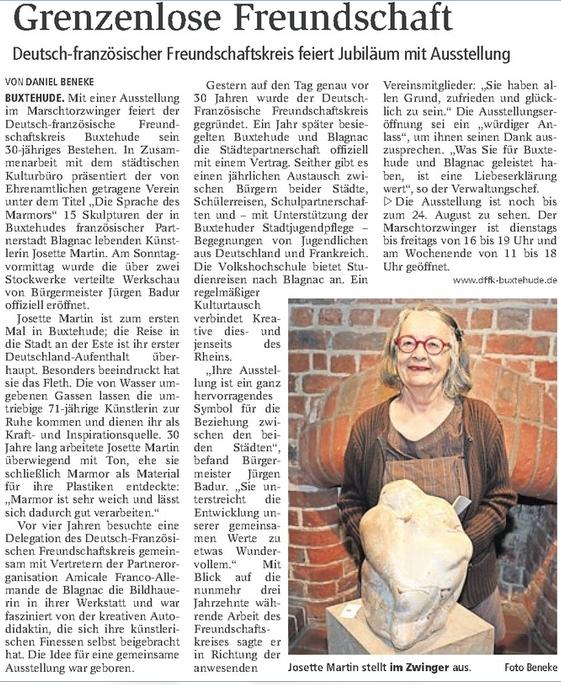 Ausstellung Josette Martin im Zwinger